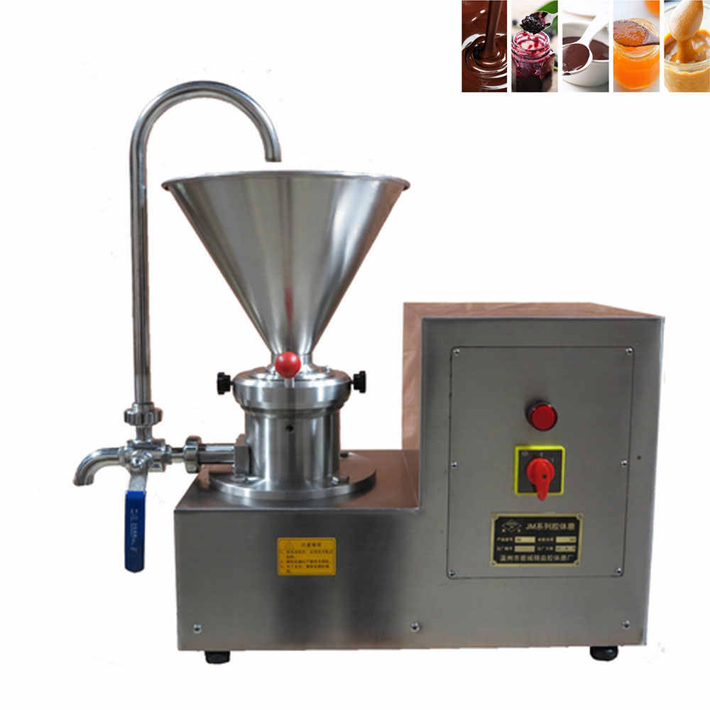 Automatic peanut butter machine stainless steel colloid mill peanut paste grinder for sesame sauce/chili/soymilk/jam/chocolate