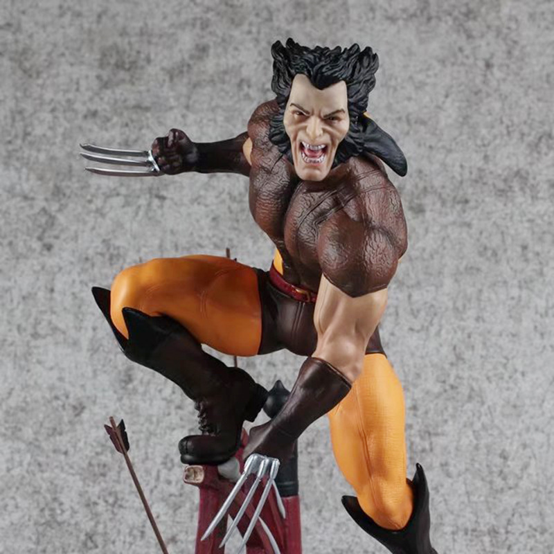 Tobyfancy X-Men Wolverine Logan PVC Action Figure 26cm Logan Howlett Statue Collection Model Toy high quality 16cm pvc model x men wolverine james howlett logan howlett action figure doll model toy children gift
