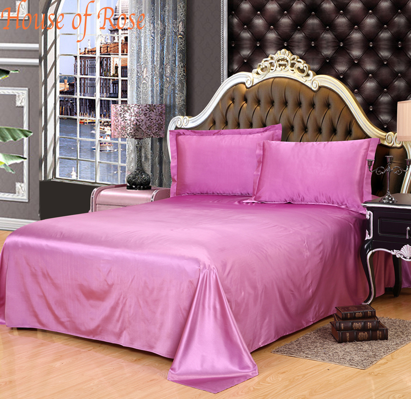bed sheet 1pc 30 mulberry silk bedsheets king queen full twin size satin sheets bed sheets. Black Bedroom Furniture Sets. Home Design Ideas