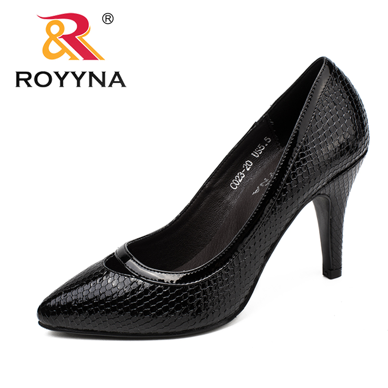 ROYYNA New Fashion Style Women Pumps Pointed Toe Women Dress Shoes High Heels Women Office Shoes Comfortable Fast Free Shipping siketu 2017 free shipping spring and autumn women shoes fashion sex high heels shoes red wedding shoes pumps g107