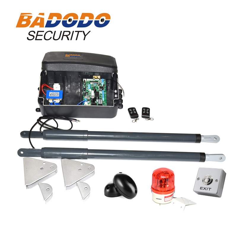 with fingerprint keypad optional automatic swing gate opener gate actuators kit 12VDC 200kg per leaf-in Access Control Kits from Security & Protection    3