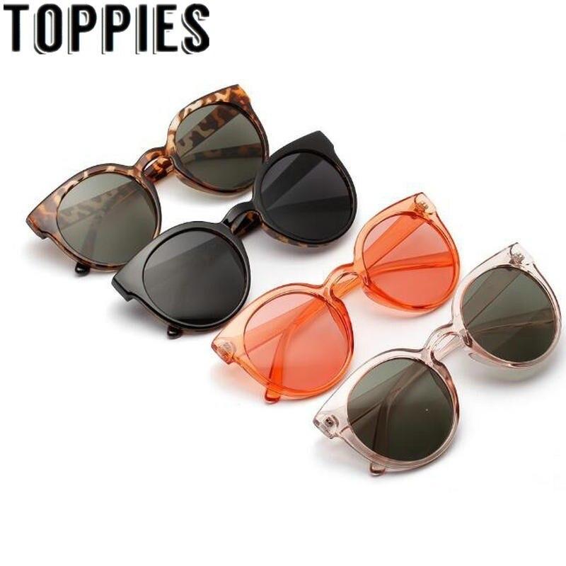 2019 Women Round Sunglasses Summer Uv Protect Leopard Sun Glasses Retro Vintage Oversize Sunglasses