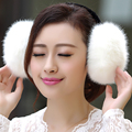 2016 Hot selling women faux rabbit fur pearl earmuffs,Girls cute plush fluffy ear warmer muffs lady fox fur candy color earmuffs