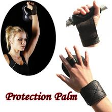1PC Multi-purpose Cross Training Gloves Non-Slip Palm Leather Weightlifting Fitness Protection Palm Wrist Support durable21*10cm