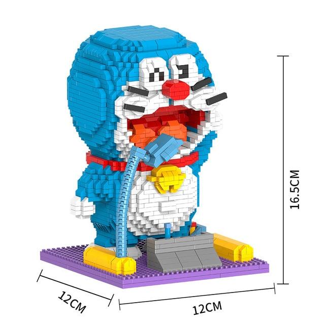 Berlian Sihir Blok Bangunan Batu Bata Kartun Doraemon
