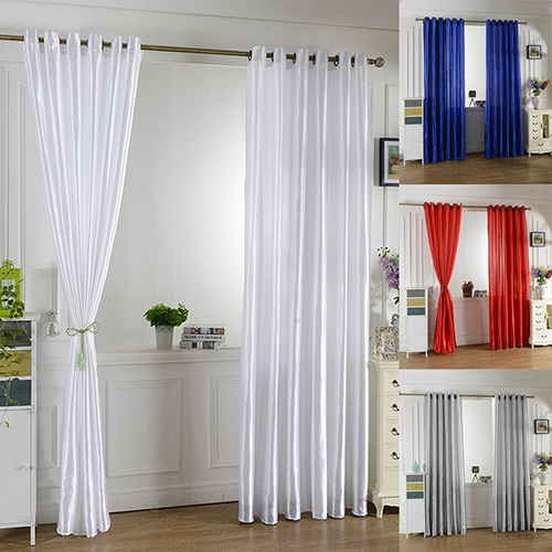Solid Window Door Room Panel Shade Curtain Drape Blind Valance Home Decor