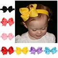 1 PCS Baby Girl Big Bows Infant Headband DIY Grosgrain Ribbon Elastic Bows Headbands Hair Bands Hair Accessories Best 20 colors
