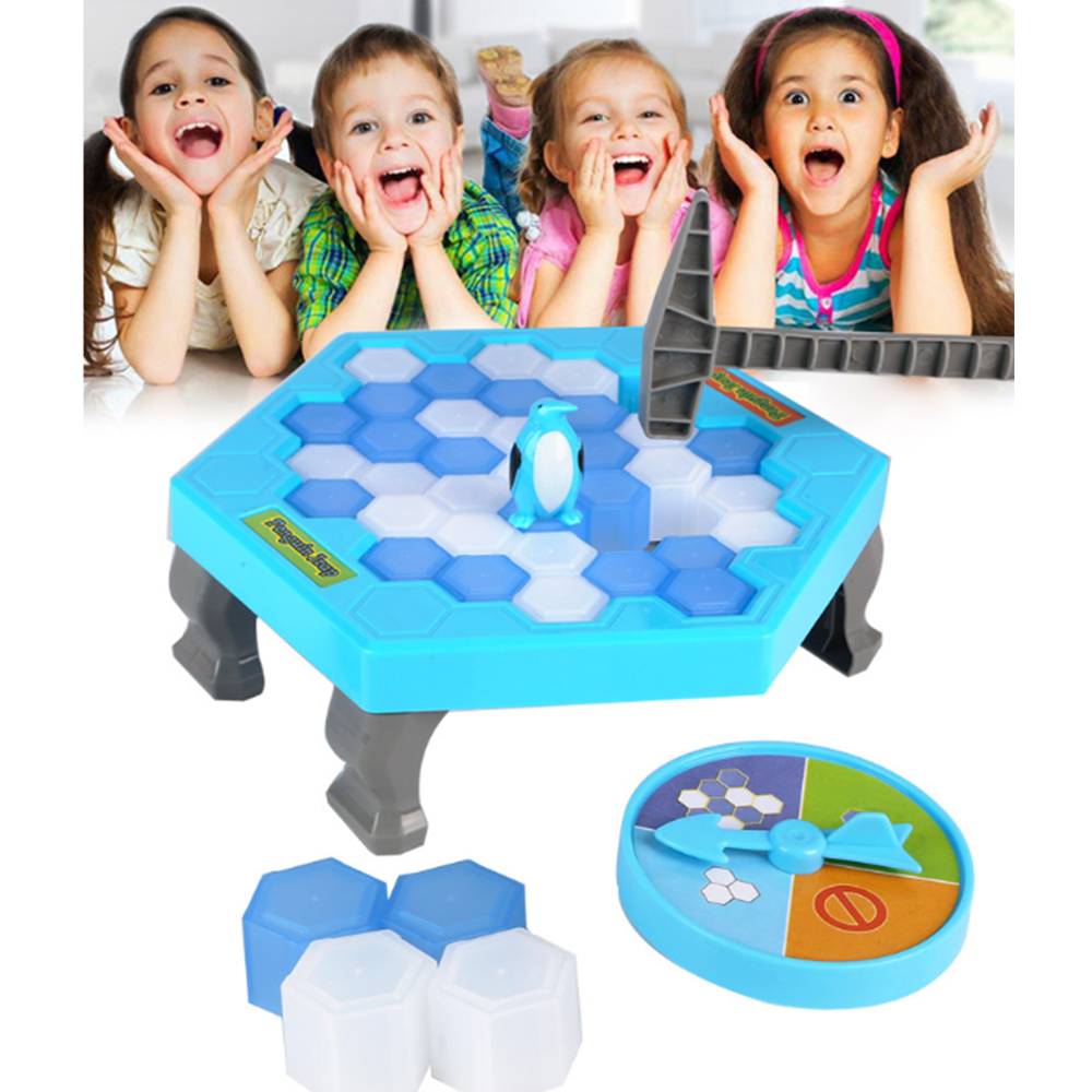 Baby Kids Toys Hobbies Education for Children Interactive Funny Puzzles Parent Fun Toy, Ice Breaking Save Penguin Table Game