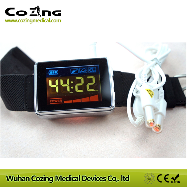 China Smart watch high blood pressure lower blood fat and diabetes 13 beams bio 650nm laser red light therapy device for sale soft laser home physiotherapy device high blood pressure treatment devices hypertention therapy watch