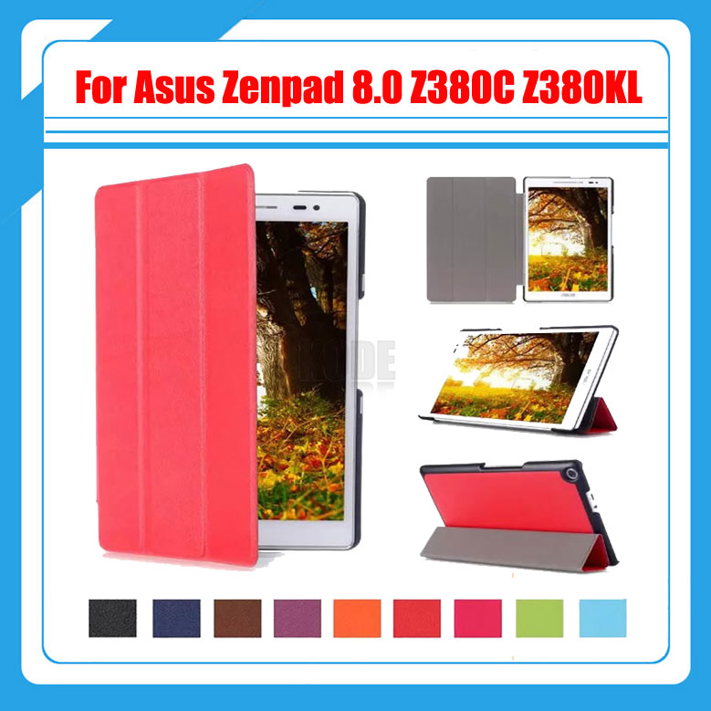 3 In 1 Magnetic Smart Pu Leather Cover Case For Asus Zenpad 8 0 Z380 Z380C