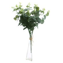 Artificial Eucalyptus Leaf Green Leaves branches Plants for Home Wedding Party Decorations Money Plant Tree