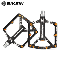 BIKEIN Cycling Bicycle Ultralight MTB Pedal 4 Sealed Bearing BMX Platform Flat Pedals Aluminum CNC Mountain Bicycle foot tread