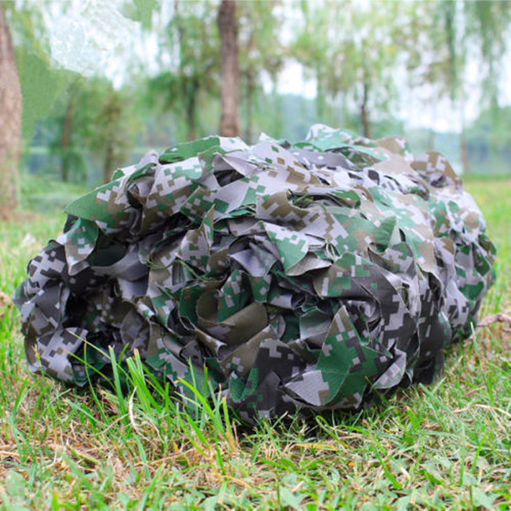 10x16ft Military Digital Camo Netting Camouflage Net Woodland Leaves Camo Cover