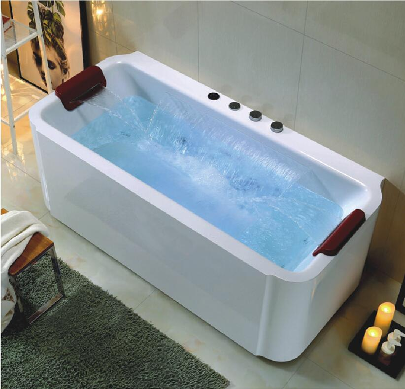 1700mm European Freestanding Rectangular Massage Tubs bathtubs & whirlpools waterffall NS1105