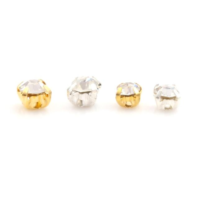 100 pièces 3/4MM bricolage pour bjd blyth poupée cristal strass boucle chaussures ultra-petit japonais mot boucles accessoires
