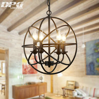 Винтаж LED гладить подвесные светильники Светильник подвесной светильник с E14 110 В 220 В для столовой гостиная, спальня