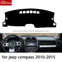 HochiTech For Jeep Compass 2010 2015 Dashboard Mat Protective Pad Shade Cushion Photophobism Pad Car Styling