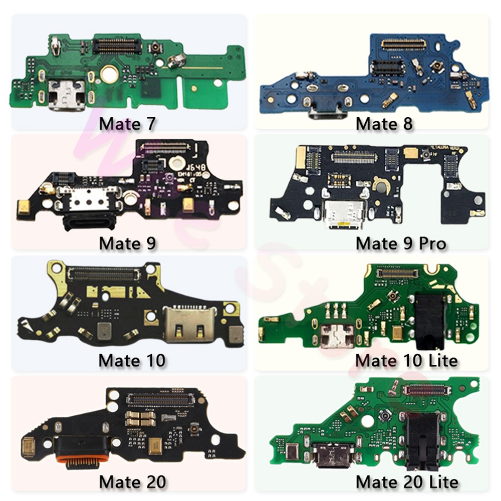 USB Charging Port Dock Connector Flex Cable For Huawei Mate 7 8 9 10 20 Lite Pro Plus Original Charger PCB Repair Part