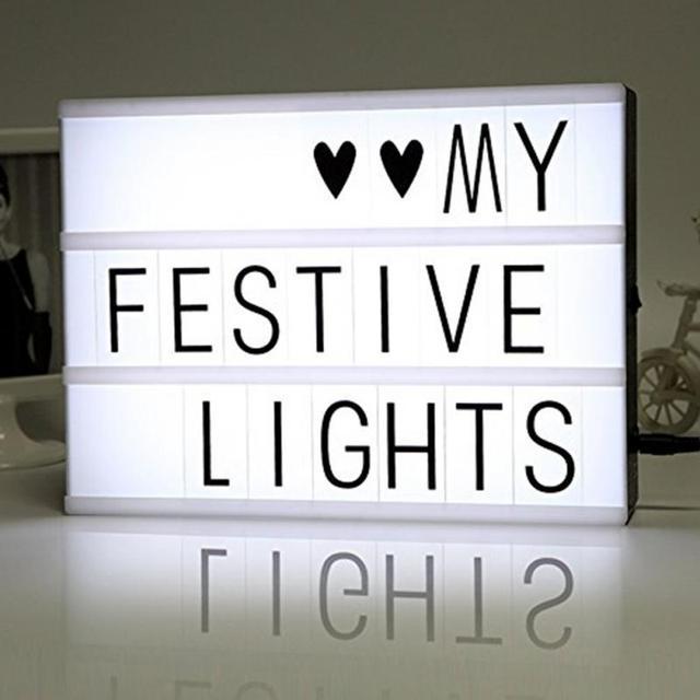 Tylko na zewnątrz DIY Kino Symbole namiot Światła LED Light Box Z 90 Liter A4 A5 A3 TB35