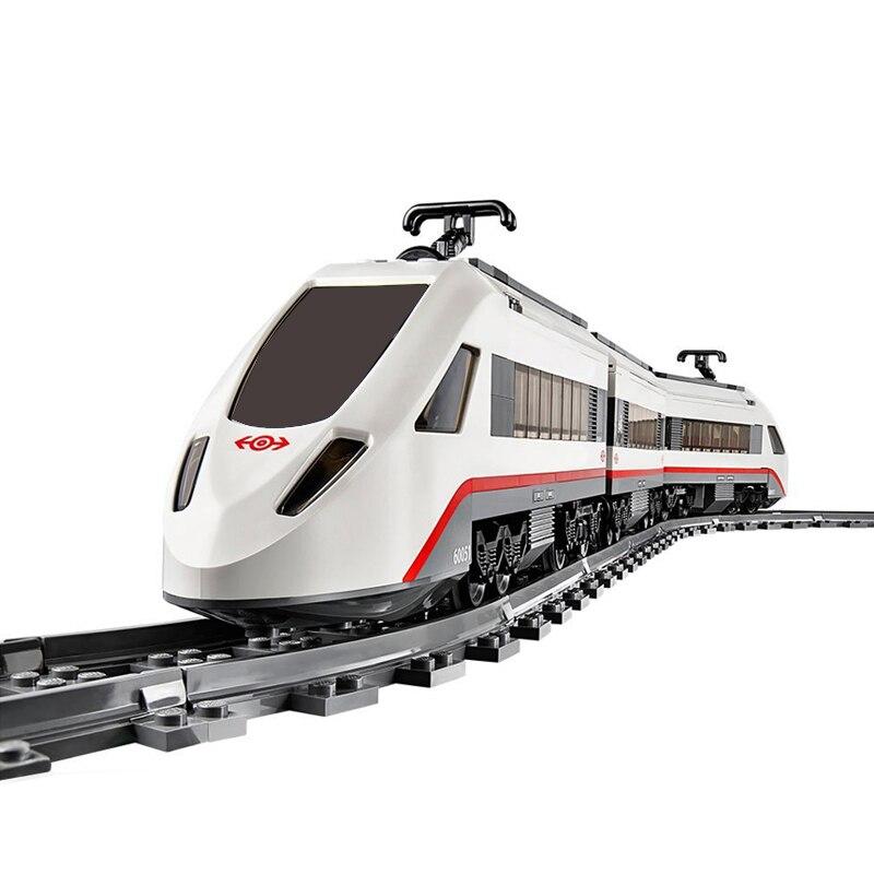 02010 City Creator Series High Speed Passenger Remote Control RC Rail Train Building Blocks Bricks Toys Legoing Technic 60051
