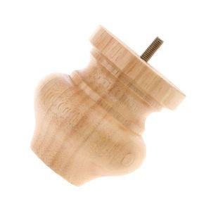 Image 5 - 4Pcs Schwarz/Holz Stuhl Fuß Bänke Holz Bett Sofa Boden und möbel schutz Runde holz konische holz Möbel beine