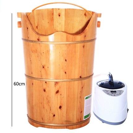 Banho do pé fumigação barril pacote completo temperatura aumentando 60 cm pé banheira barril banho banho de pé massagem Nos Pés