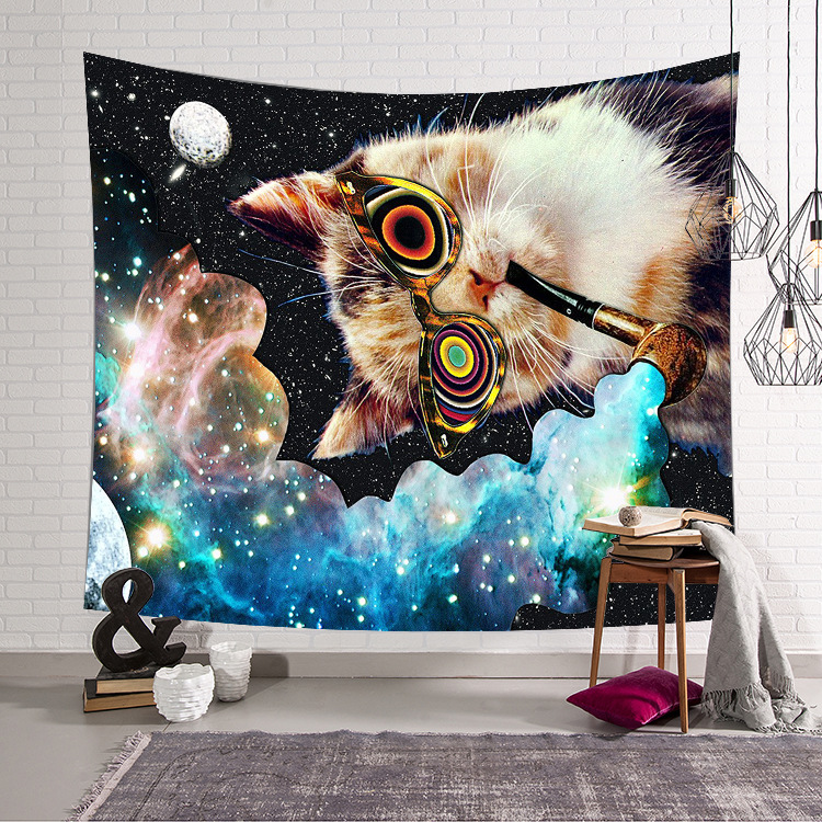 Image 5 - CAMMITEVER Astronaut Space Moon Earth Cloud Hanging Wall Tapestries Creative Home Decoration-in Tapestry from Home & Garden