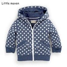 Sweatshirts Children Hoodies Little Maven Hooded Zipper Fleece Boys Winter Dot Autumn
