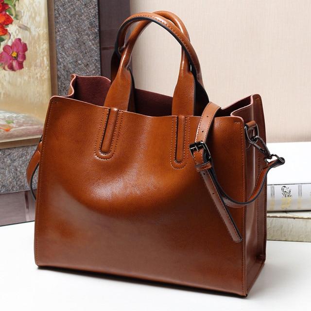 97532d47ef74 Luxury 100% Real Leather Women Designer Handbags Brand Cowhide Genuine  Leather Women Shoulder Messenger Bag Elegant tote Handbag