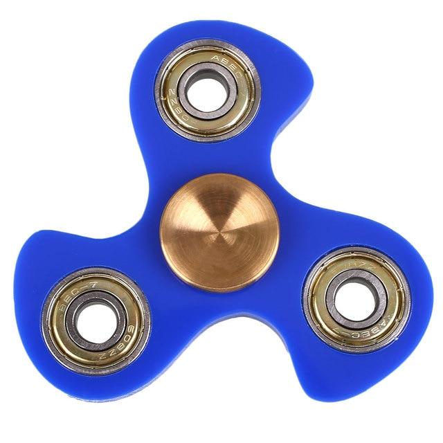 Fidget Spinner EDC Hand Spinner Ceramic Bearing Plastic Bearing Fidget Antistress Toys Blue