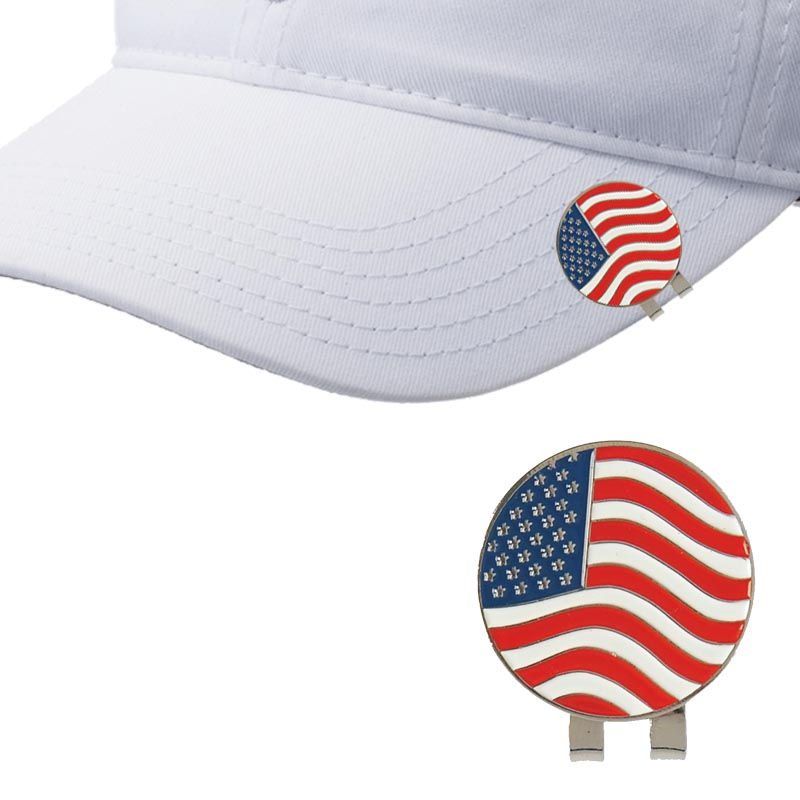 Golf Ball Marker Golf hat Clip Flag