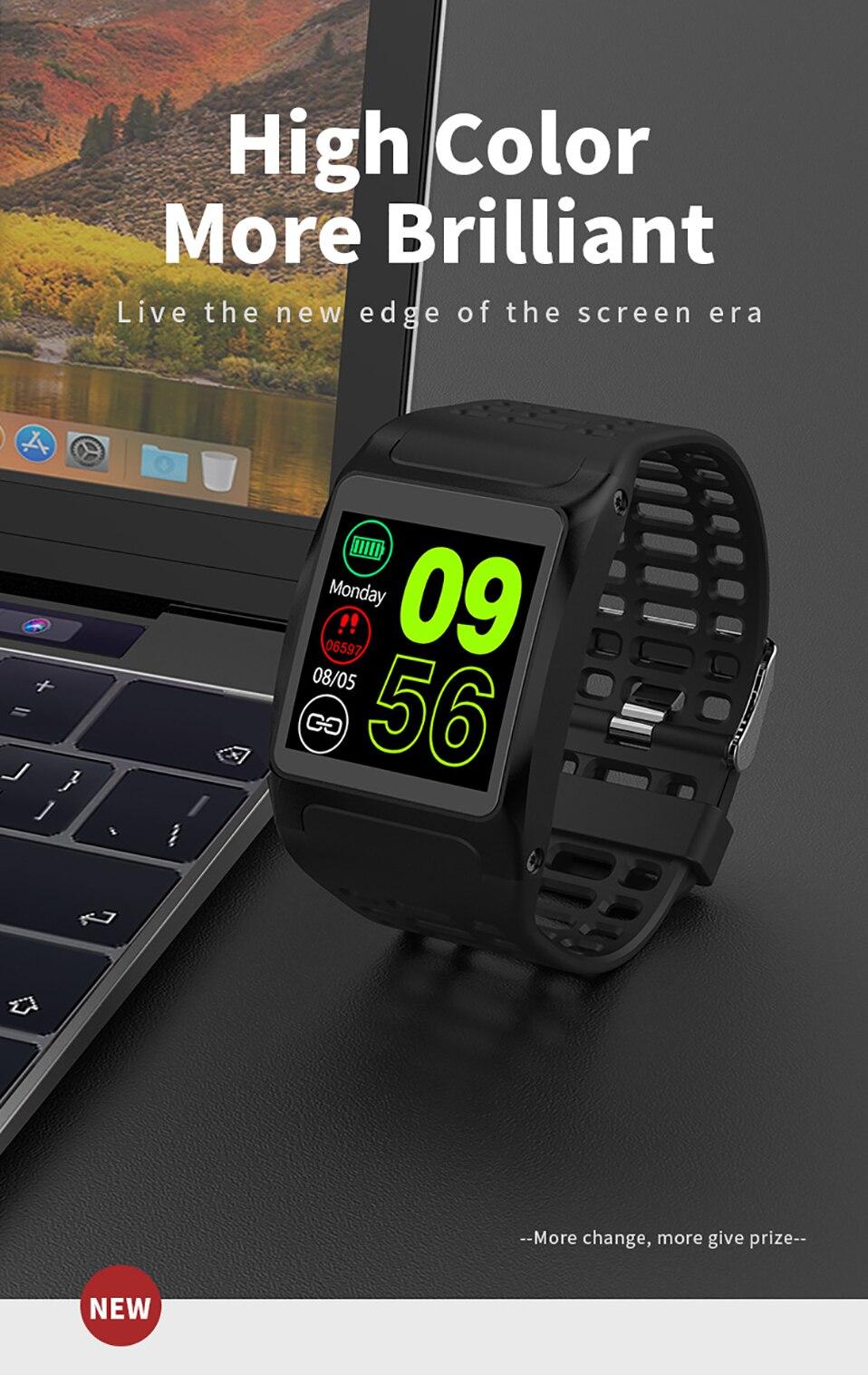 ALANGDUO Z01 Smart Watch Color Screen Smart Wristwatch Big Dials Heart Rate Monitor Micro sensor Waterproof Smart Watch Bracelet (1)