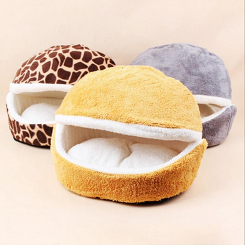 Free Shipping +Small dogs and cats sleeping nest detachable dual-purpose windproof warm soft shell Hamburg pet nest
