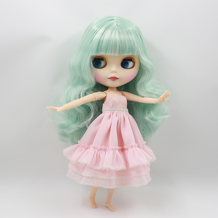 все цены на Beaukiss 12inch fashion doll model nude Blyth doll with joint body green curly long hair baby dolls for girls gifts