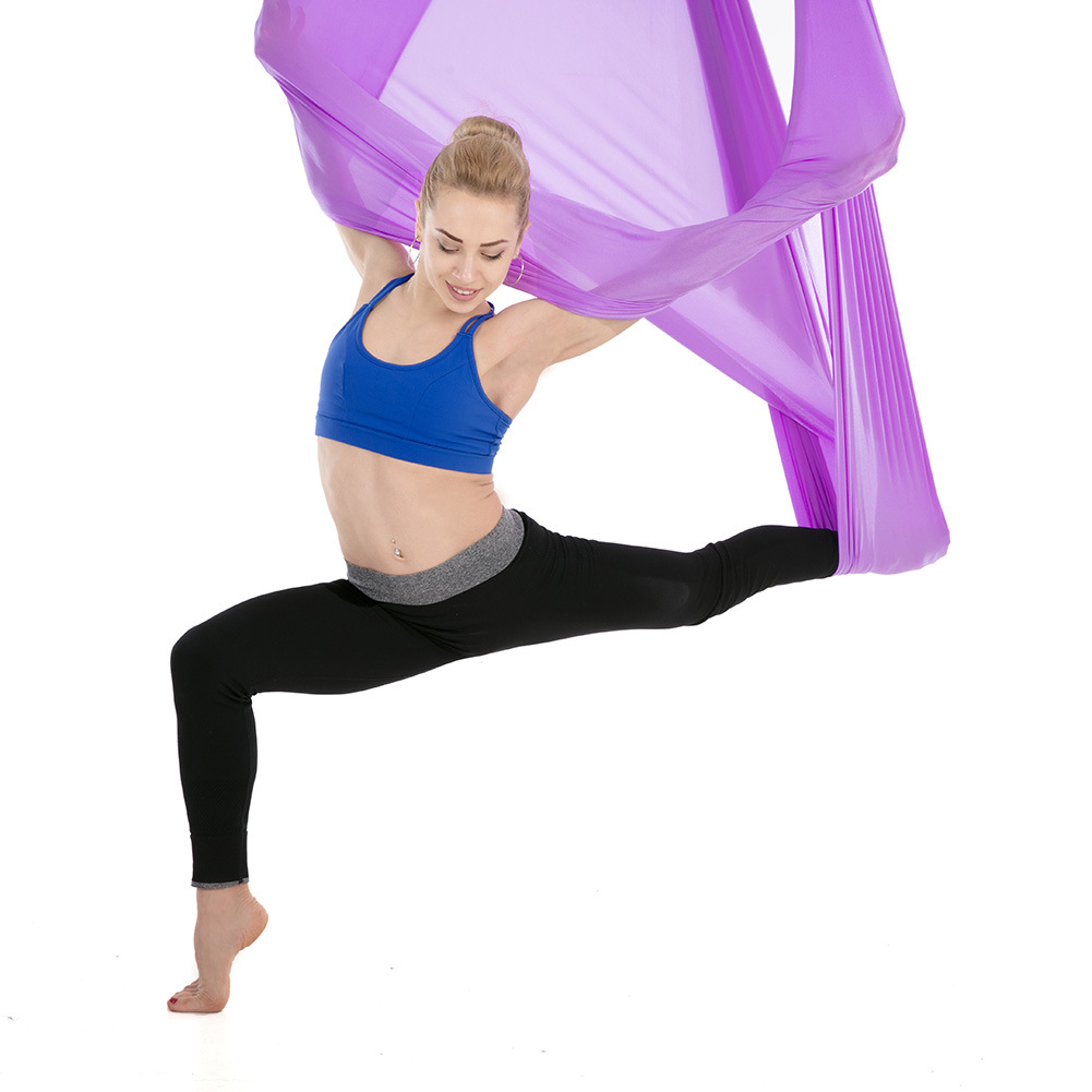 Yoga Gym With Reverse Gravity Air Yoga Hammock Stretch 5 * 2.8m Widened Fitness Yoga HammockYoga Gym With Reverse Gravity Air Yoga Hammock Stretch 5 * 2.8m Widened Fitness Yoga Hammock