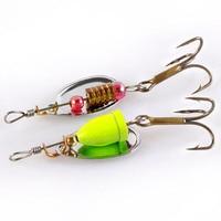 30 Pcs Lot Colourful Metal Spinners Fishing Lure Artificial Wirebait Mepps Spoon Hooks Jig Wobbler Hard
