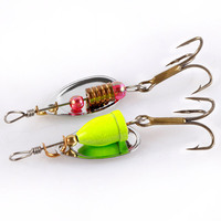 30 Pcs Lot Colourful Metal Spinners Fishing Lure Artificial Wirebait Mepps Spoon Hooks Jig Wobbler Hard