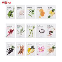 MISSHA Pure Source Cell Sheet Mask Face Skin Care Facial Mask Hydrating Anti Aging Whitening Acne Treatment Mask Korea Cosmetics missha time revolution the first treatment essence intensive moist 150ml korean cosmetics new