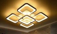 Пять глав площадь Горячие продаж современный светодиодный потолочный светильник для гостиной Спальня поверхностного монтажа Крытый акрил