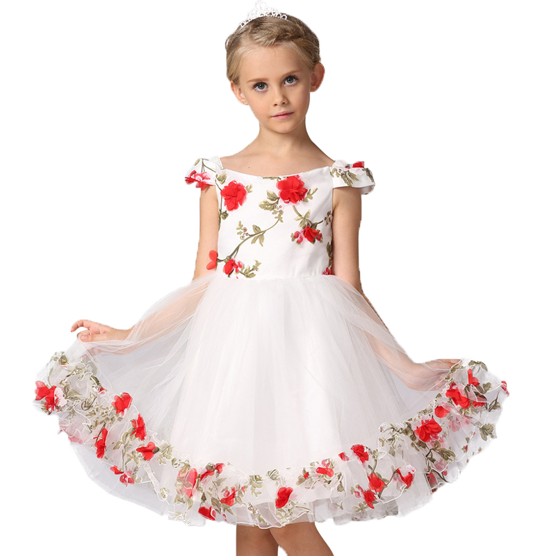 Girls Dress Flower Pageant Wedding Kids Clothing 2017 Summer Princess Party Dresses Clothes party formal dress of Girl 3-12 year