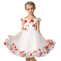 Girls Dress Flower Pageant Wedding Kids Clothing 2017 Summer Princess Party Dresses Clothes Party Formal Dress