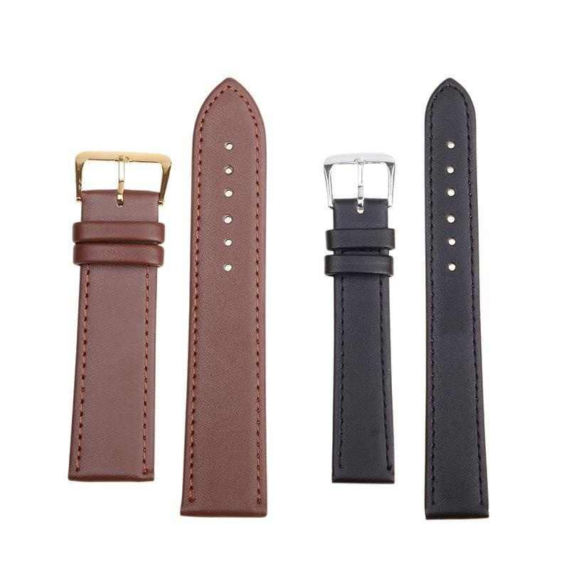 Leather Watches Band Strap 12mm 14mm 16mm 18mm 20mm 22mm 24mm Women Men Watchbands Watch Belts 10 Colors
