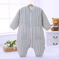 Baby Sleeping Bag Newborn Full Sleeve 100% Cotton Children Winter Bag Baby Girl Sleeping Clothes Infant Sleeping Sack