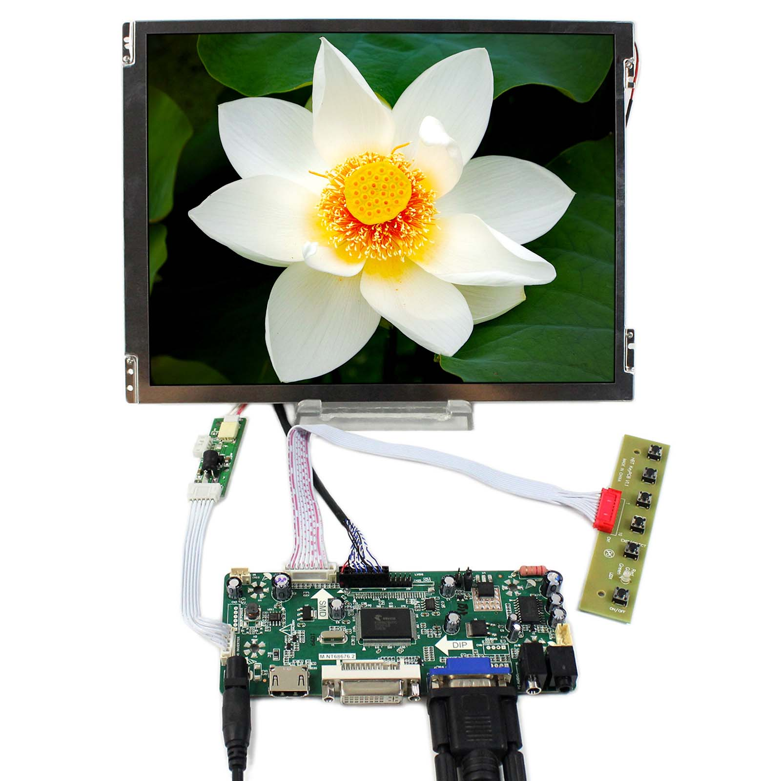 HDMI+VGA+DVI+Audio LCD Controller Board With 10.4inch 800x600 TM104SDH01 LCD ScreenHDMI+VGA+DVI+Audio LCD Controller Board With 10.4inch 800x600 TM104SDH01 LCD Screen