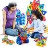 Mini 158pcs Lot Magnetic Construction Model Building Blocks Toys DIY 3D Magnetic Designer Educational Brick New