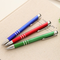 100ps/set Wholesale Business Gift Aluminum Pen Metal Ball Pens Wholesale Metal Gift Pen Writing Instrument