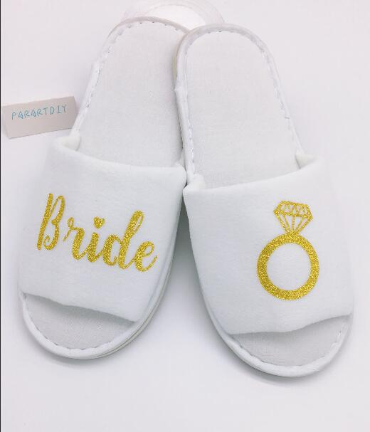d094d3428c56 personalized glitter gold Wedding Slippers