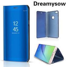Dreamysow Fashion Mirror Clear View Smart Case For Xiaomi Redmi 6 6A Note 5 Pro Mi8 SE Cover For Redmi Note 5A Prime Flip Cover