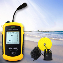 LUCKY FF1108 - 1 Portable Fish Finder Echo Sounder 100m Sonar LCD Echo Sounders Fishfinder Echo sounder for fishing 200kHz