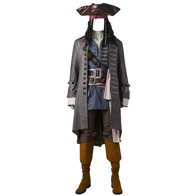 Pirates of the Caribbean Cosplay Costume Captain Jack Sparrow Cosplay Dead Men Tell No Tales Salazar's Costume Adult Custom Made